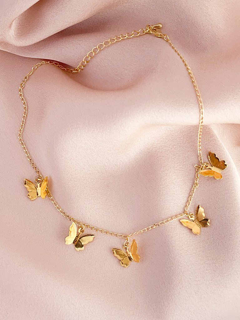 8c934f3a2 Stella Gold Butterfly Choker in 2019 | Pendant Necklaces | Gold ...