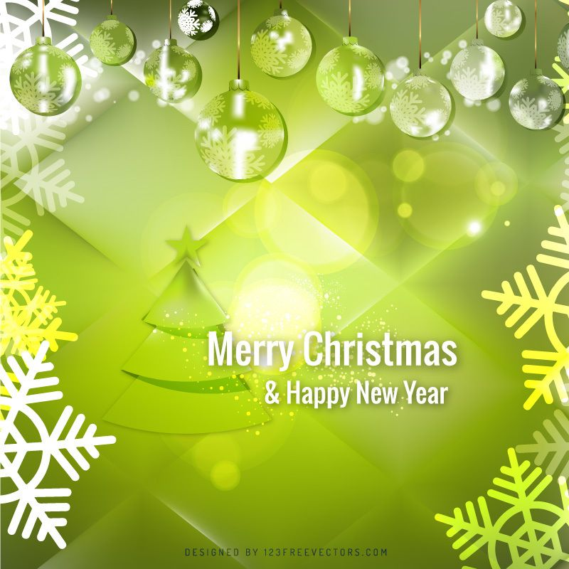 green christmas balls background template
