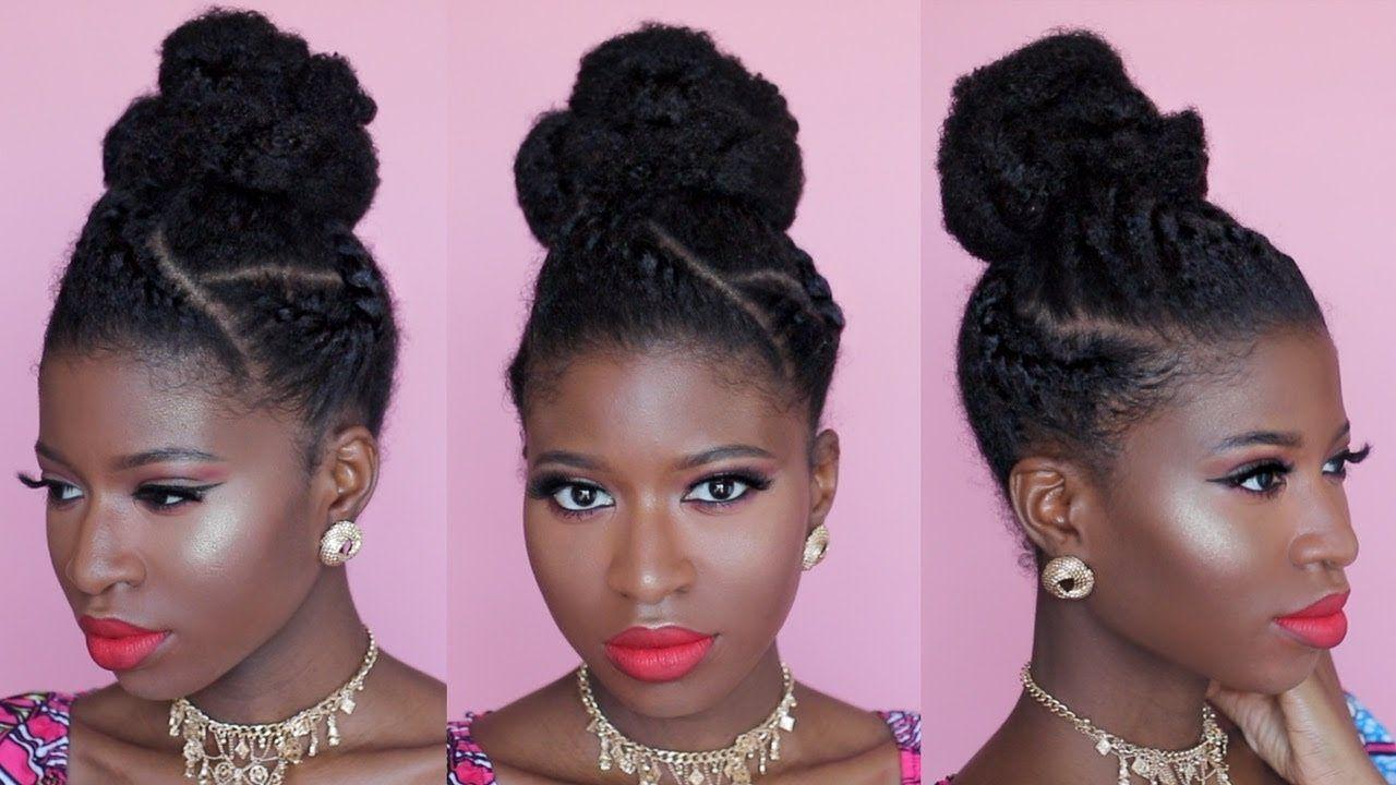 Natural hair easy formal bun updo ft weddingdigestnaija