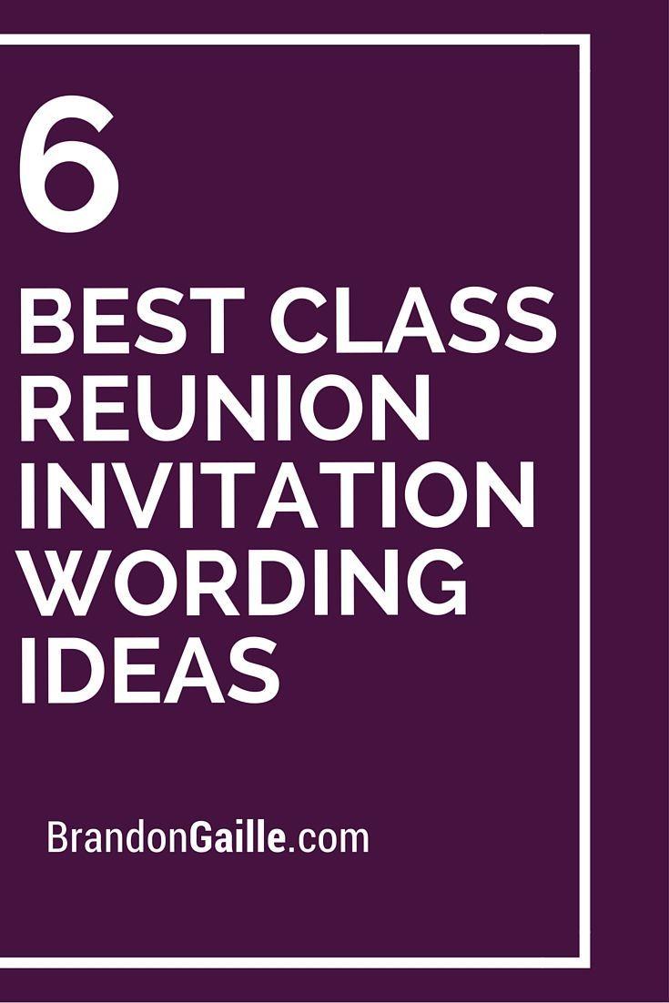 6 Best Class Reunion Invitation Wording Ideas