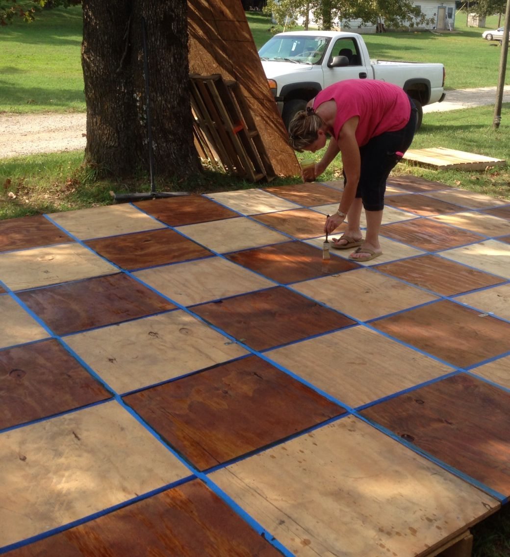Build For The Wedding Dance Floor Out Of Pallets I Made