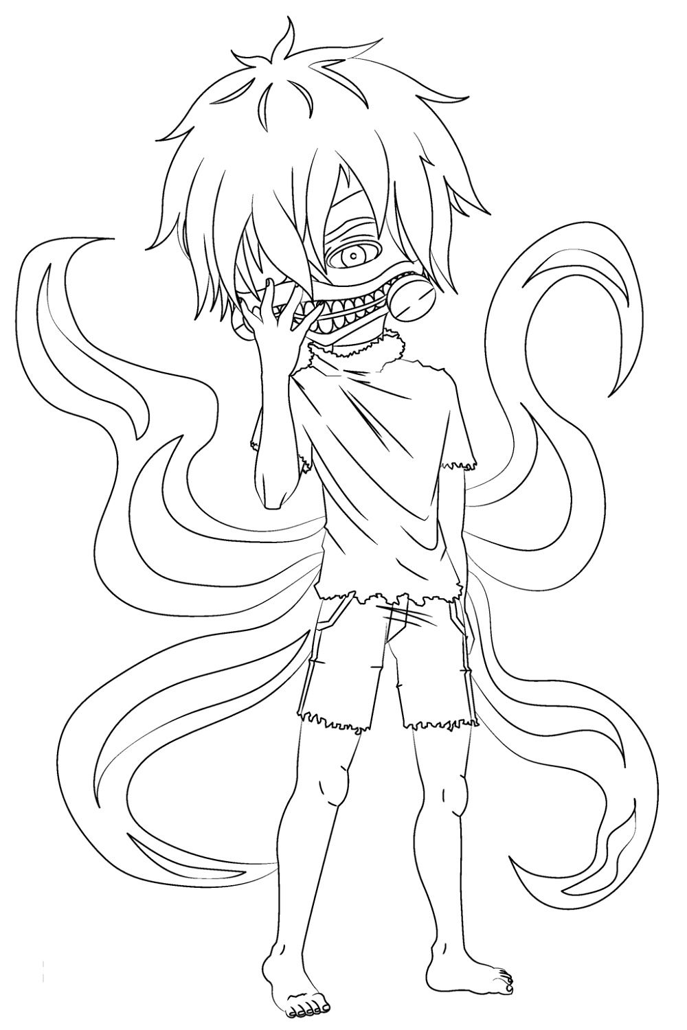 Tokyo Ghoul Coloring Pages Chibi Coloring Pages Chibi Tokyo Ghoul