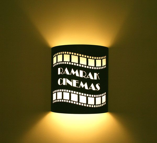 """Custom Theater Sconce. """"Pearlman Productions"""""""