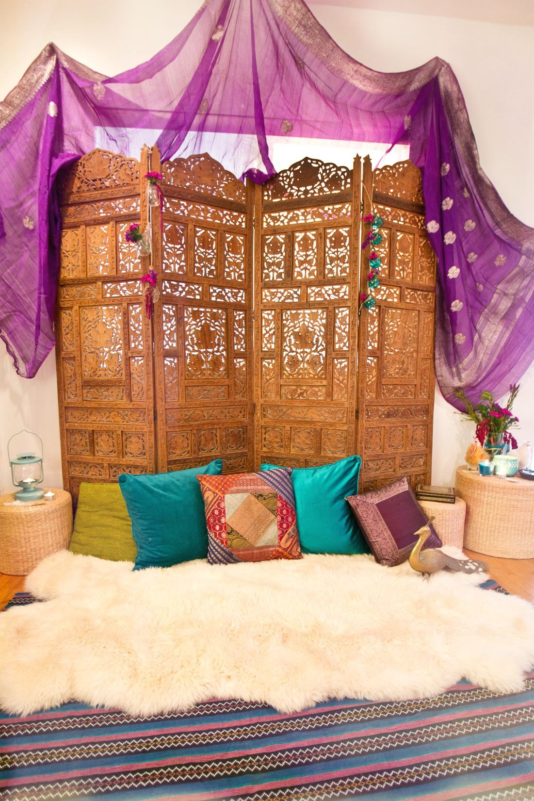 Bed canopy gypsy - Gypsy New Year S Dinner Party Diy Bohemian Styling By Msq