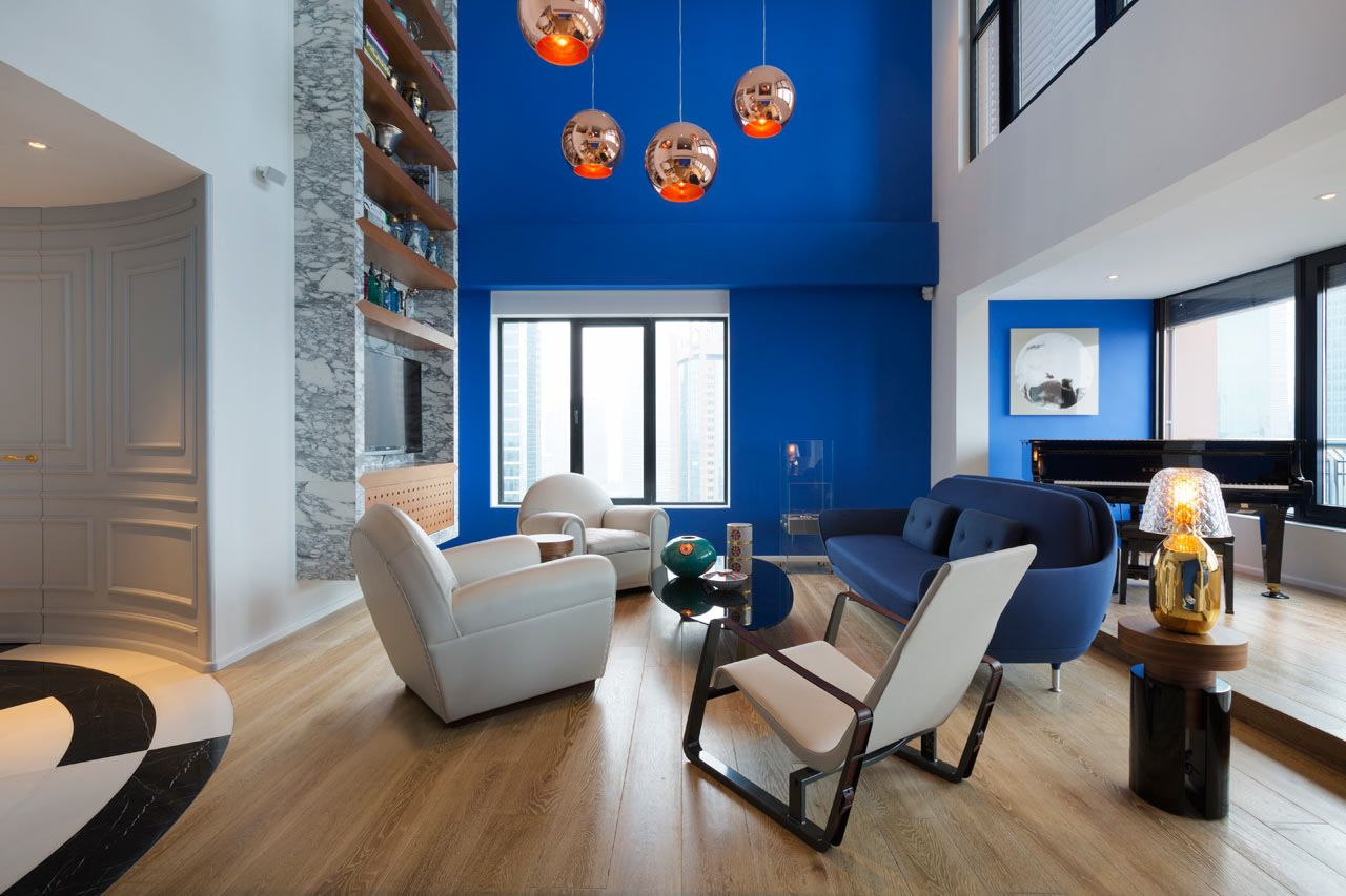 Blue-Penthouse-Shanghai_1 | home interior | Pinterest