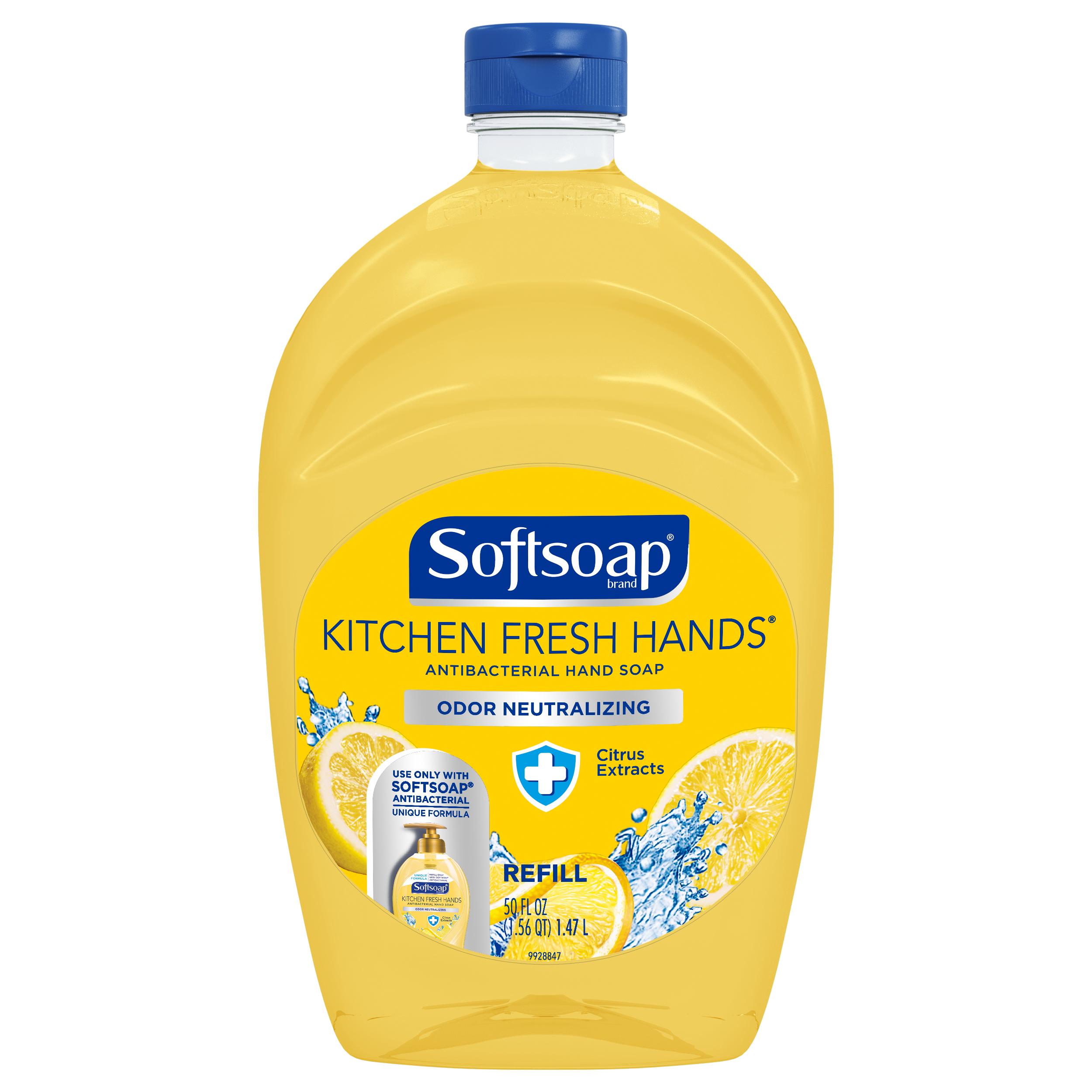 2 Pack Softsoap Antibacterial Hand Soap Refill Kitchen Fresh Hands 50 Oz Walmart Com Softsoap Liquid Hand Soap Kitchen Odor