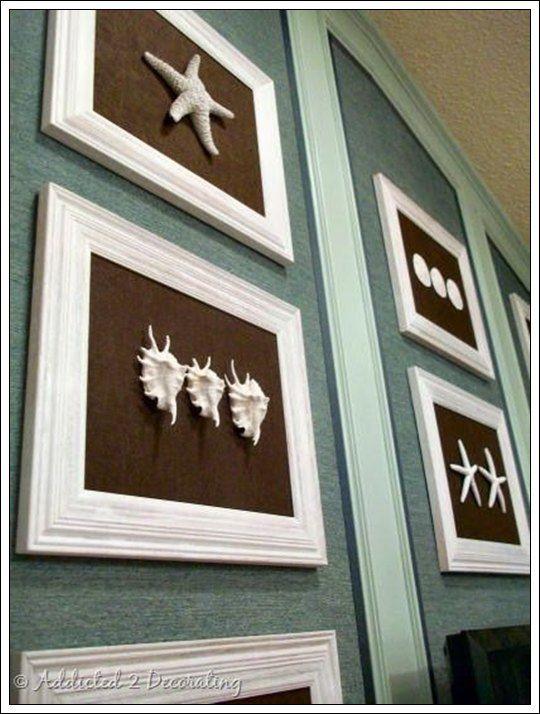 Cuadros de conchas marinas decoraci n hogar ideas y - Cuadros decoracion hogar ...