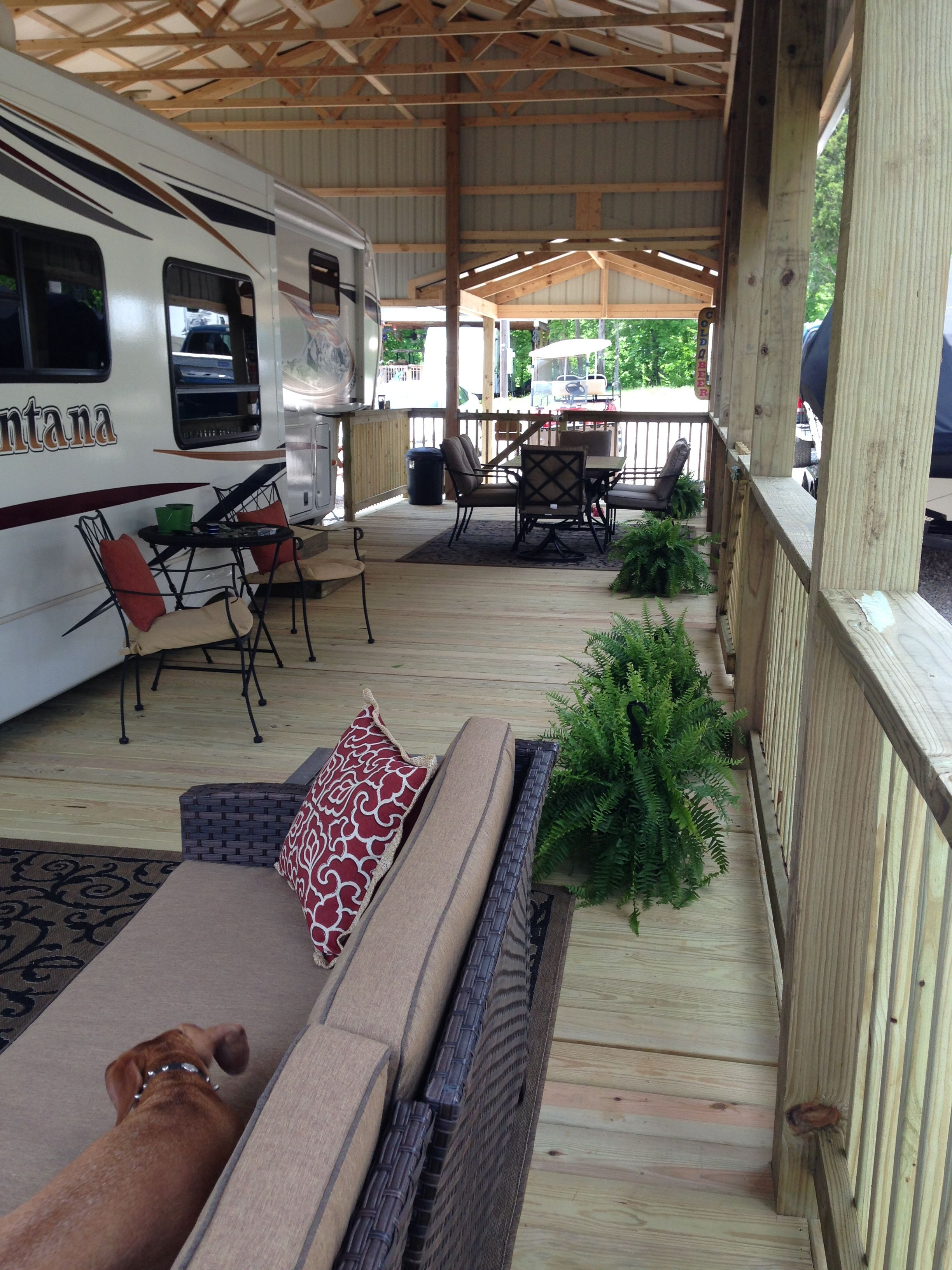 We Had The Shelter And Deck In 2016 Absolutely In Love With It Rv Living Full Time Rv Living Rv Homes