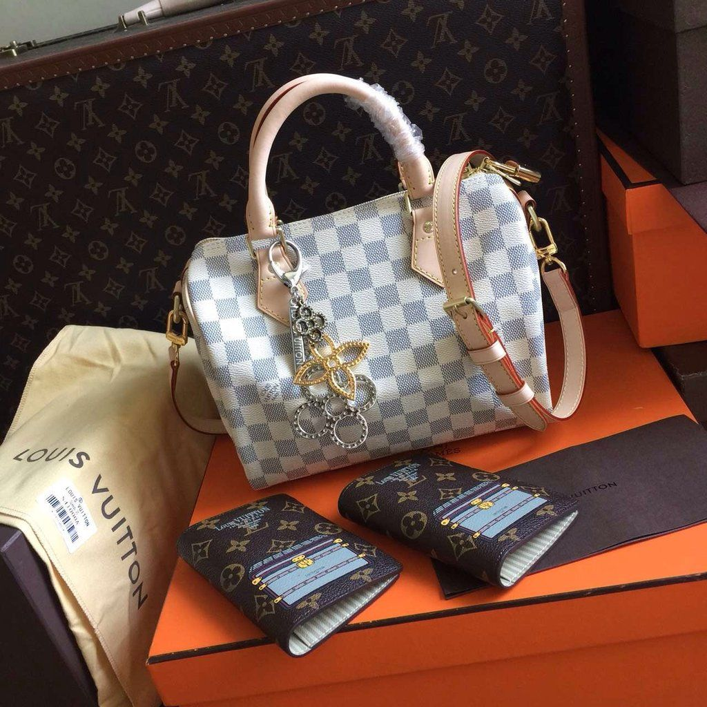 79ec835f3064 Louis Vuitton SPEEDY BANDOULIÈRE 25 Damier Azur Canvas for sale at  https   www