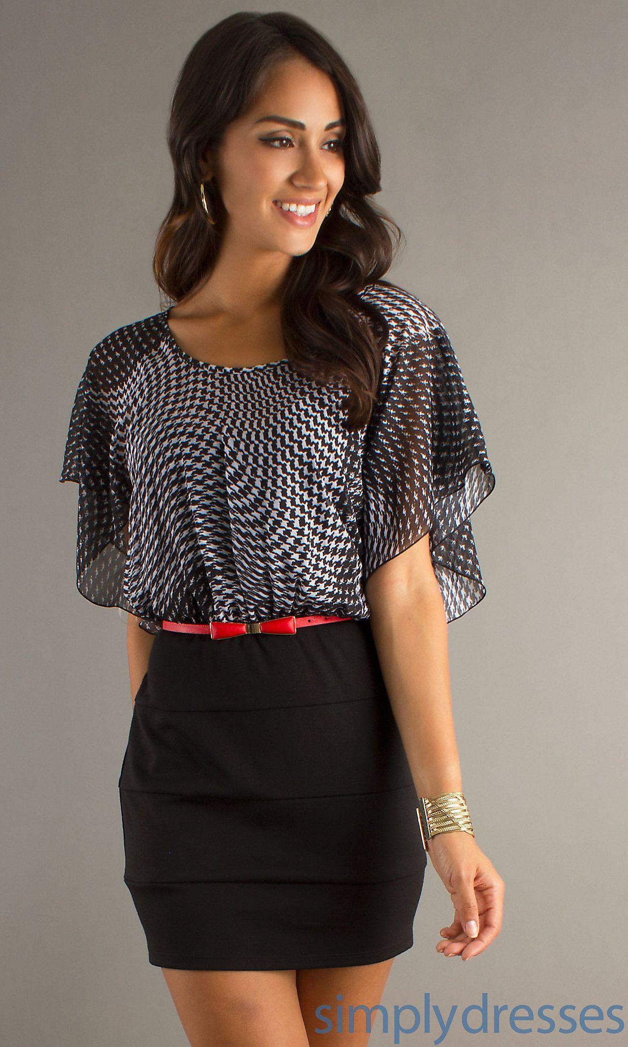 Short black print dress mycqd cute outfits pinterest