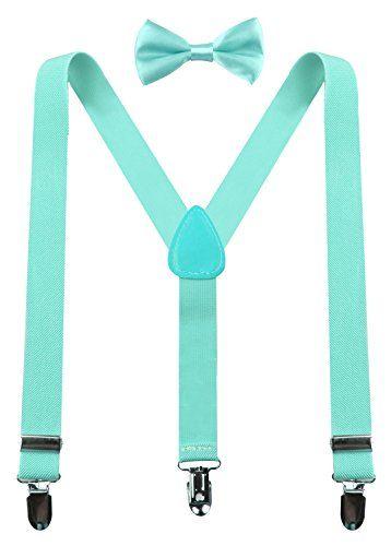 bd4259448fc4 PZLE turquoise suspenders turquoise bow tie | Groomsmen and Groom ...