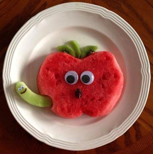 Art Lunches mit Kindernahrung - Wassermelone-Apfelsnack - ... -  50+ Art Lunches mit Kindernahrung