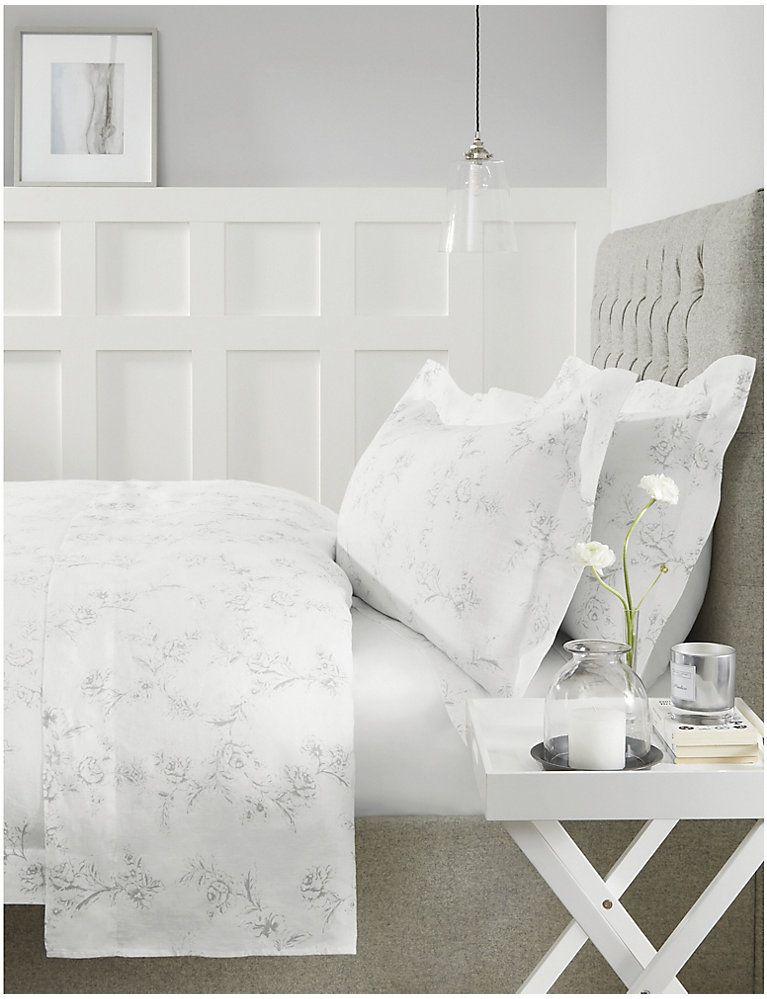 The White Company Emilie Linen Pillowcase Super King 50cm X 90cm Selfridges Com Bed Linens Luxury Bed Linen Design Linen Duvet Covers