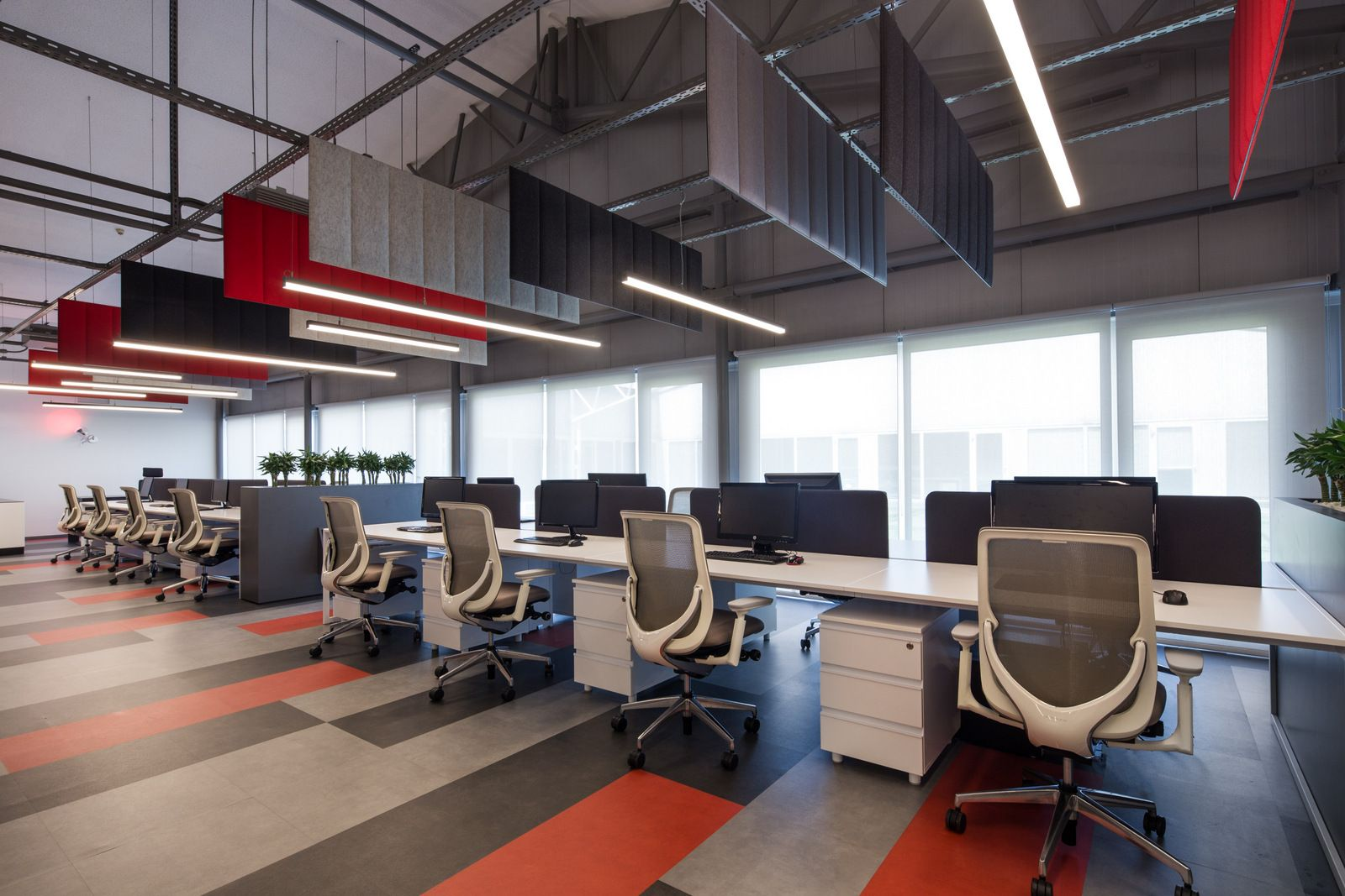sound deadening panels hanging from the ceiling | Mintek ...