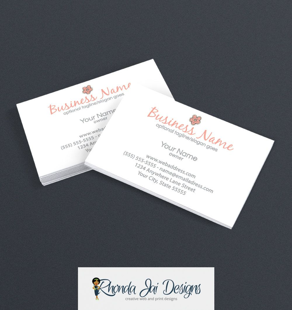 Business Card Designs - Printable Business Card Design - Premade ...