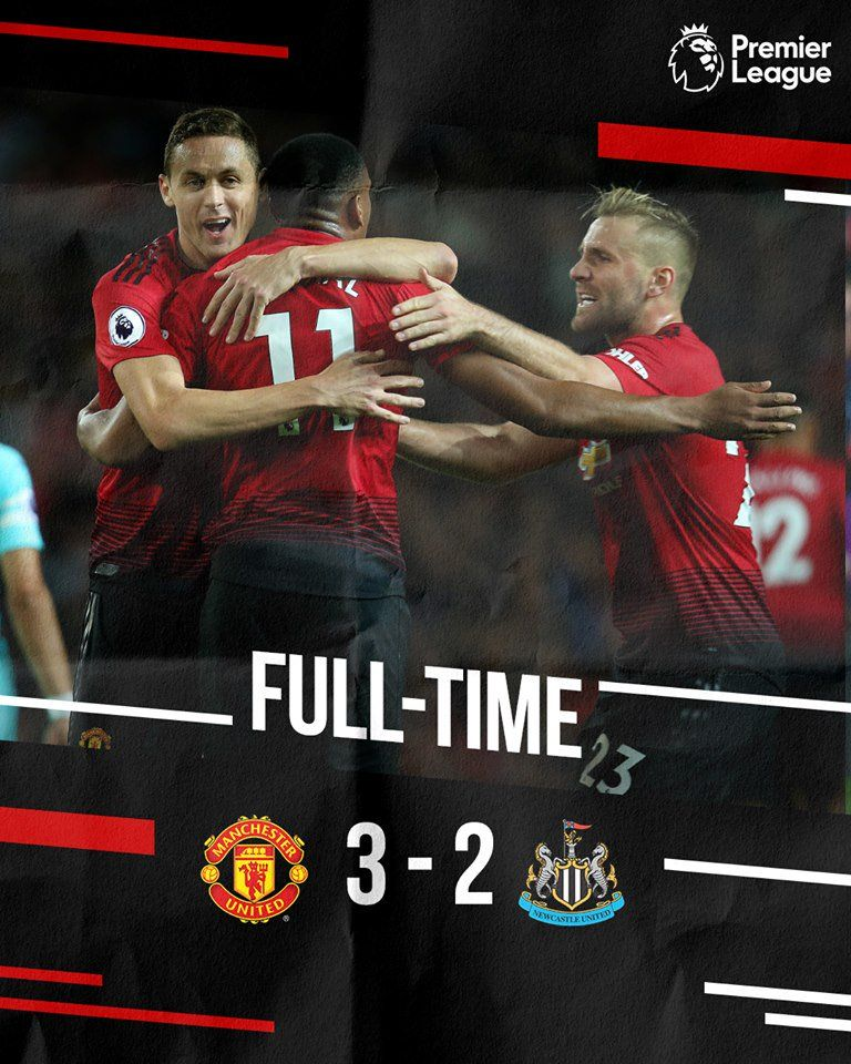 Manchester 3 2 Newcastle Manchester United Newcastle United Manchester United Football Club