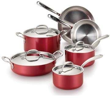 Lagostina Rossella Stainless Steel 10 Piece Cookware Set Cookware Set Lagostina Cookware