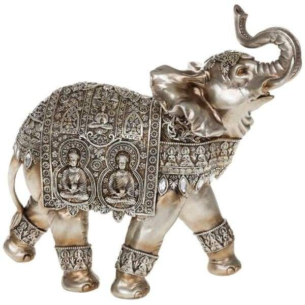 This ornate, giant tarnished silver buddha elephant will make a great addition to your interior decor. A wonderful home gift for the elephant lover. Dimensions: 32cm x 30cm