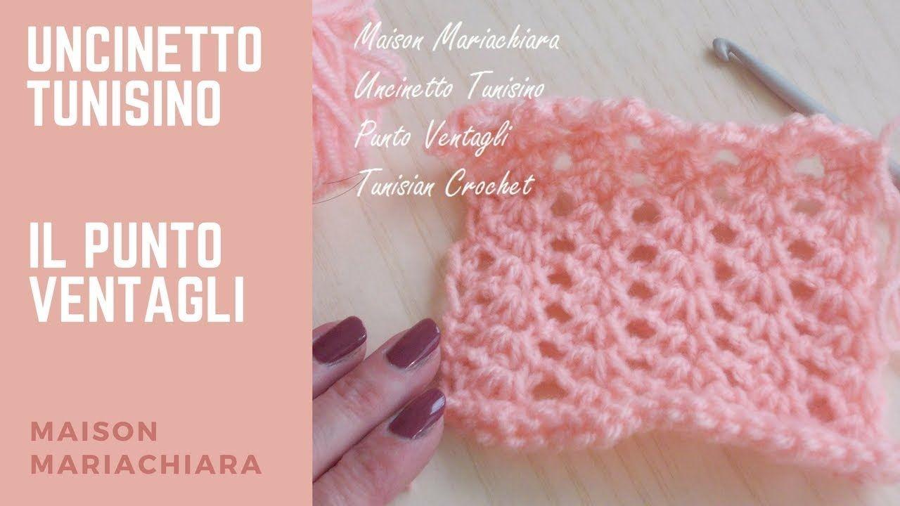 Uncinetto tunisino punto ventagli tunisian crochet for Ventagli uncinetto schemi