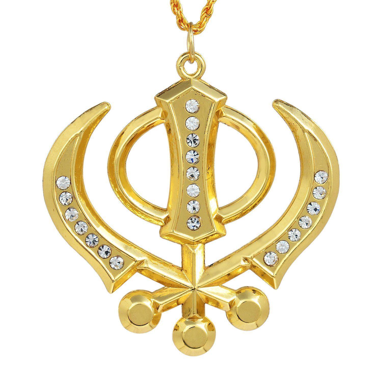 Khanda Locket Onlinesikh Symbol Locketkhanda Pendant Onlinekhanda
