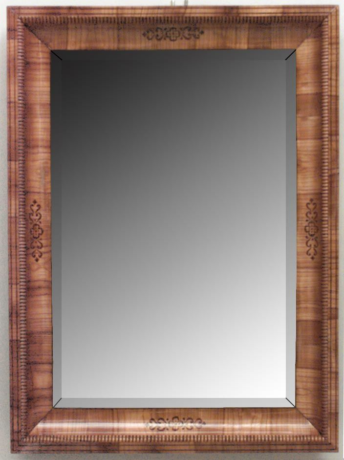 Biedermeier German Austrian mirror wall mirror cherrywood