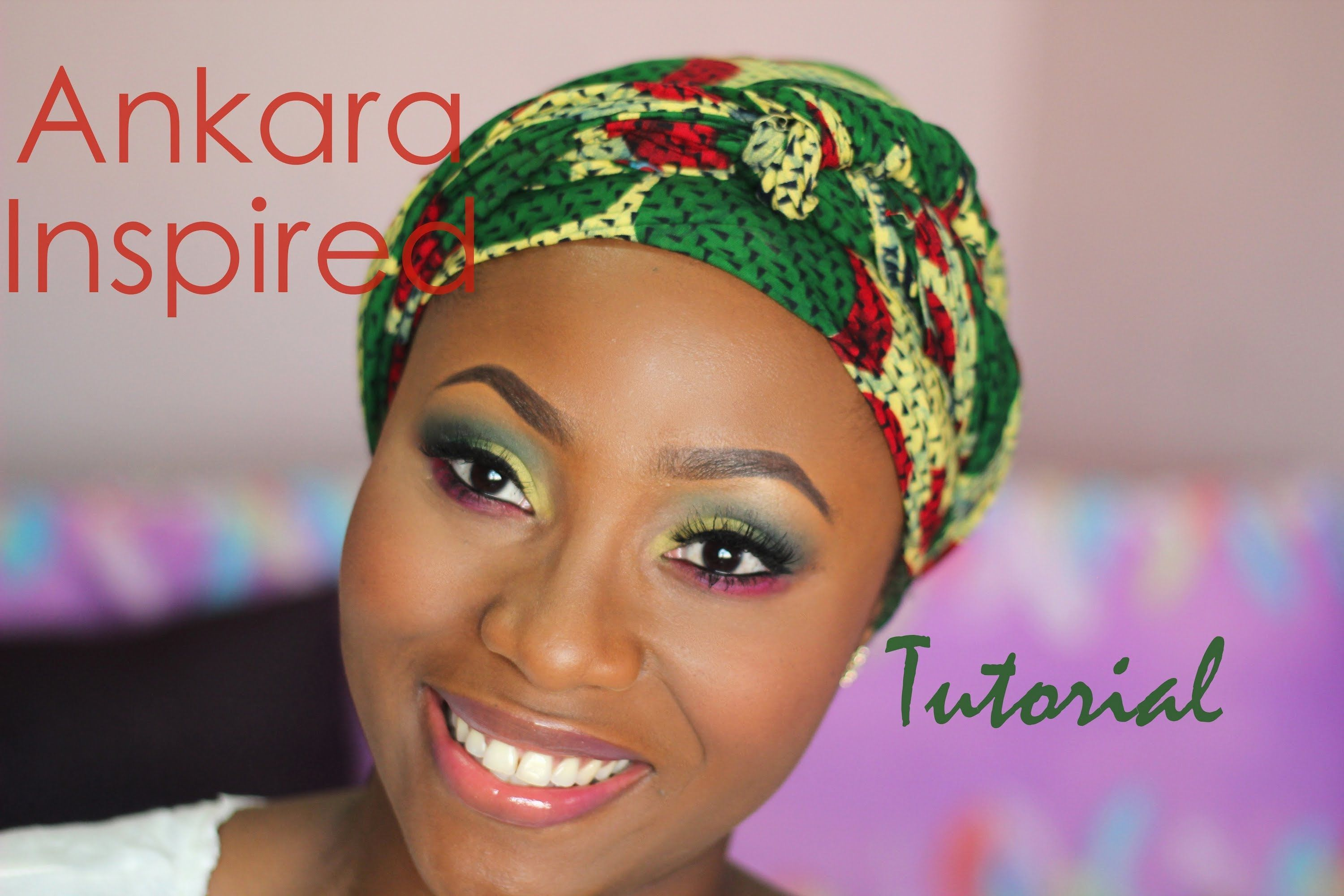 ANKARA INSPIRED MAKEUP TUTORIAL 2 Natural makeup style
