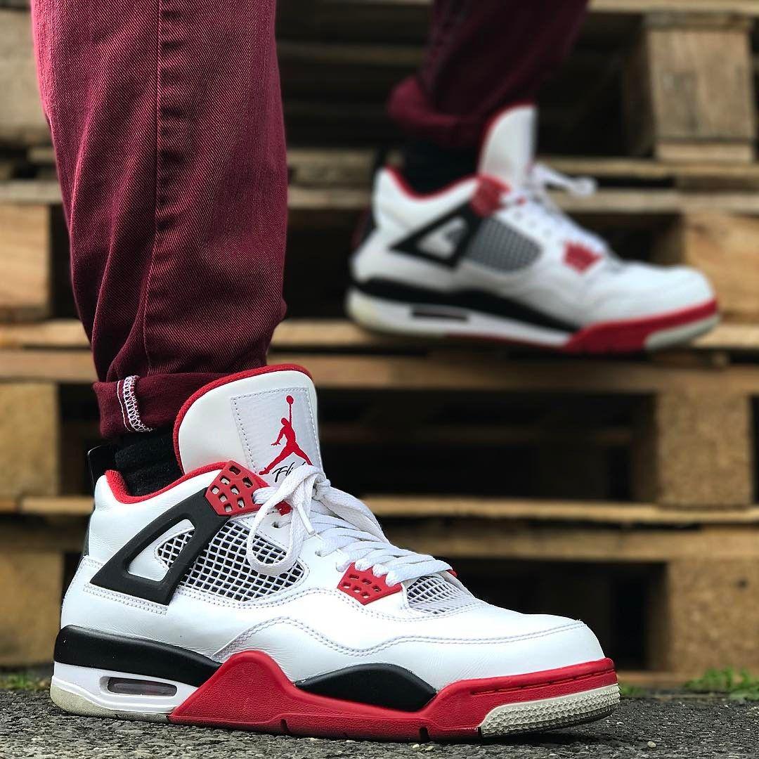 Air Jordan 4 Retro Fire Red Air Jordans Jordan Shoes Original Air Jordans