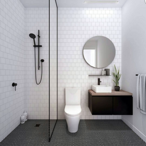 Bathroom Tiles Black And White tile trends: what people are instagramming right now | kitchens