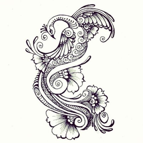 Henna peacock tattoo idea | TatToOs | Pinterest | Tatuajes, Bordado ...