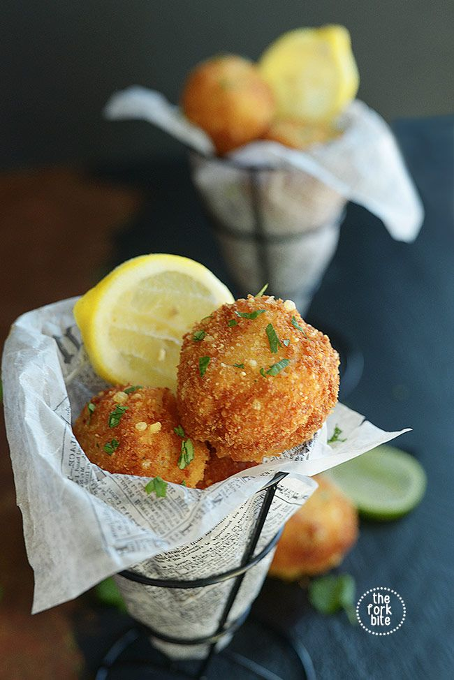 Fried Mac and Cheese - Deep fried macaroni and cheese balls are a great way to use leftover mac and cheese