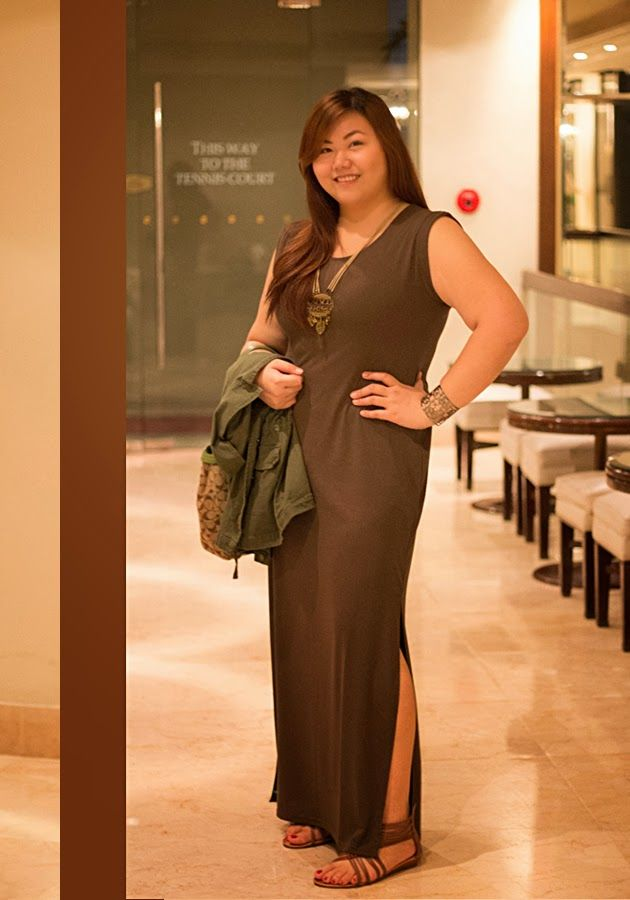 The Belated Bloomer Army Green Dorothy Perkins Maxi Dress With