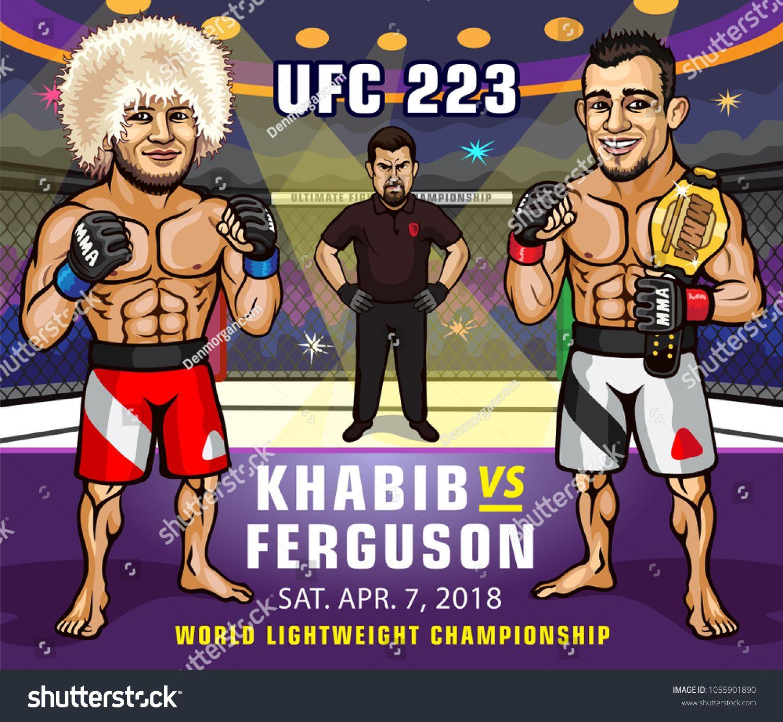 Ufc 223 Khabib Nurmagomedov Versus Tony Ferguson Lightweight Championship Khabib Nurmagomedov Ufc Lightweight Ufc Corporate Brochure Cover Tony