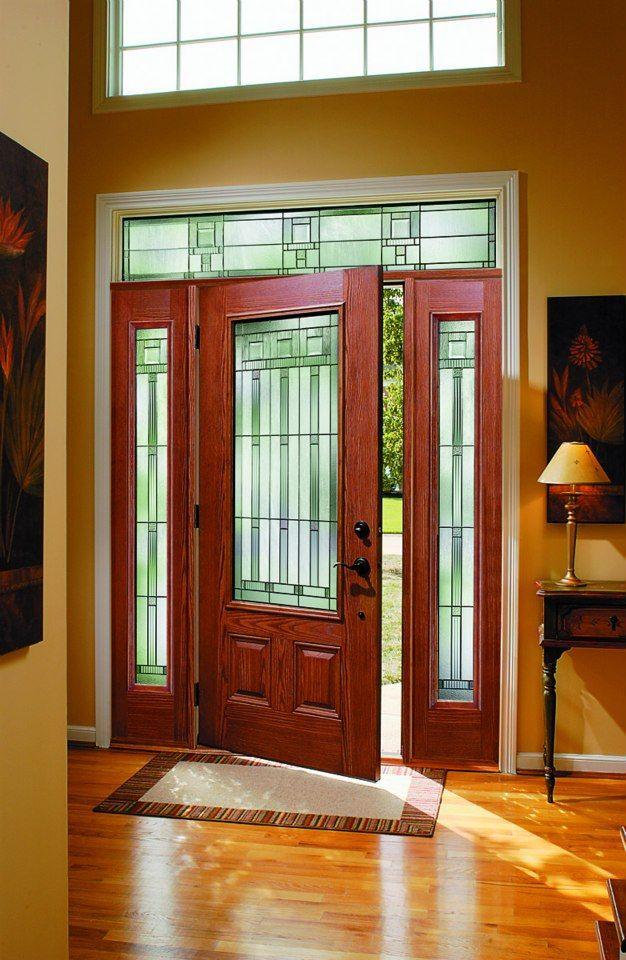 Pella Fiberglass Entry Door House Entry Doors Leaded Glass Door Craftsman Front Doors
