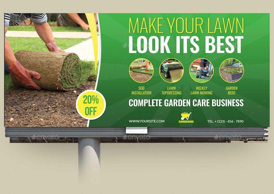 Garden Services Advertising Bundle Vol 2 Garden Services Billboard Design Roll Up Design