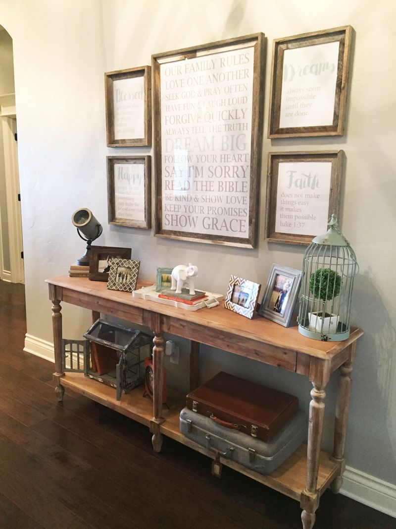 Entry Way Table Decor. Console Table Decorations. Entry Way Ideas. Part 60