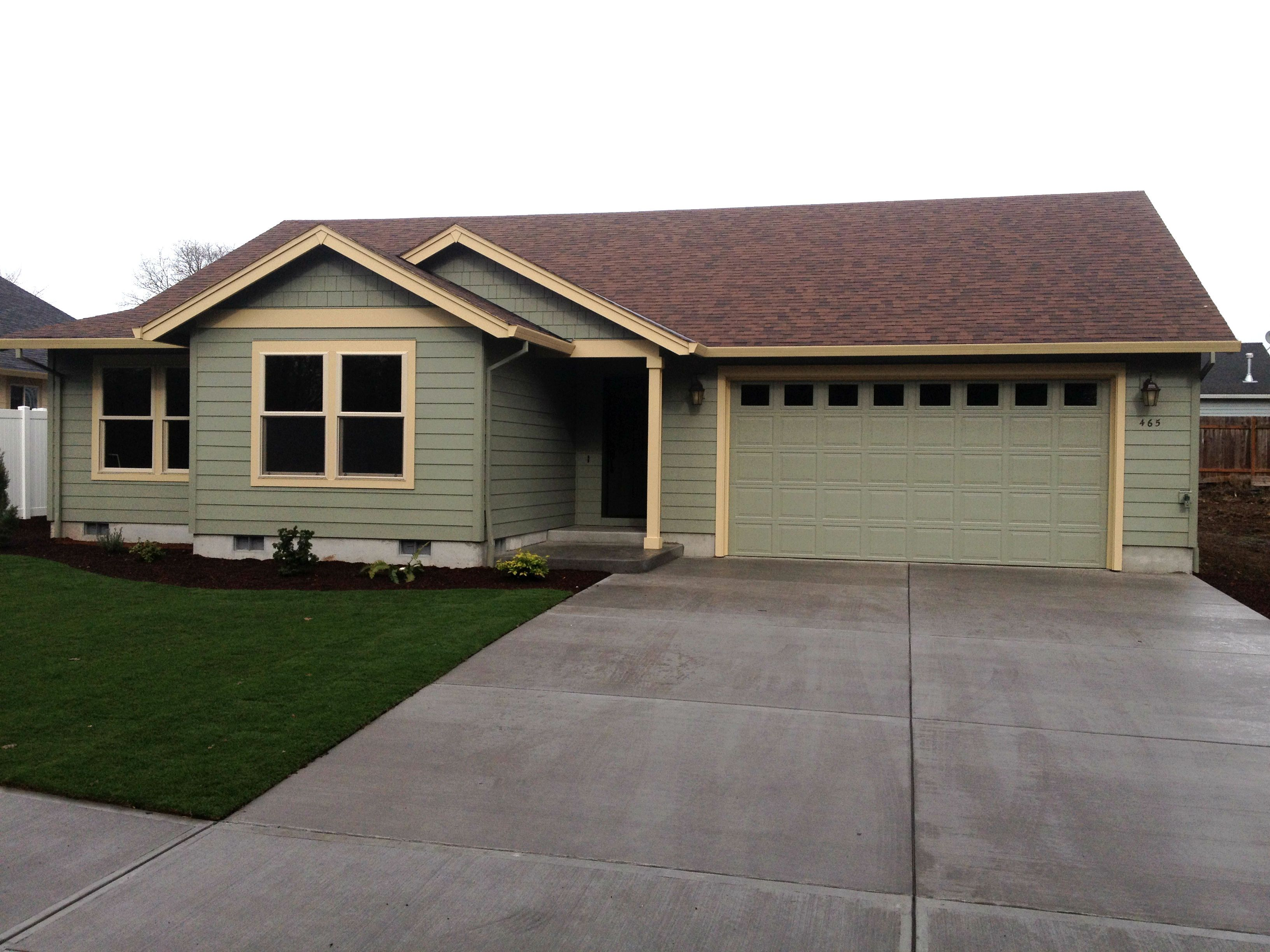 Another Project We Completed For Dr Horton Using James Har Fiber Cement Siding Products Love The Mint Green Color Choice