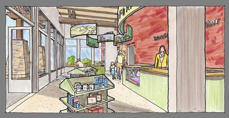 On The Boards Teton Geotourism Center Tetons Teton Mountains Exhibition