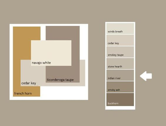 Image result for benjamin moore ashen tan vs smokey taupe for What goes with taupe