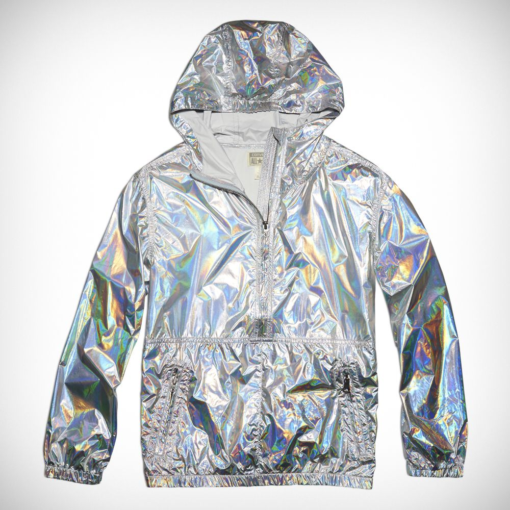 3652e93c573 Womens Iridescent Packable Jacket Silver silver
