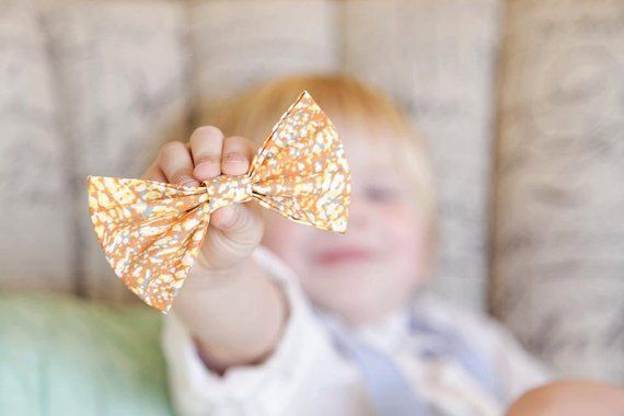 Bowtie Gray Orange White Yellow Gray Clothing Accessory Clip On  Wedding  Ring Bearer  Photo Prop  Newborn Infant Baby Toddler Girl Boy is part of Yellow Clothes Gray - policy ref shopinfo policies leftnav