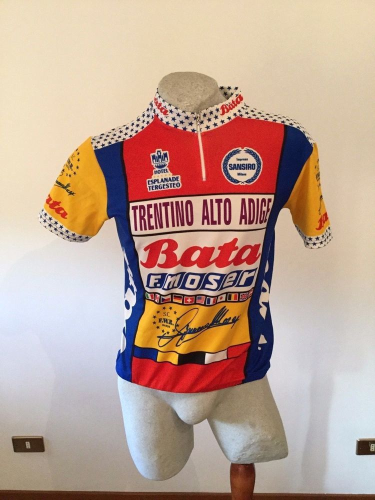 MAGLIA CICLISMO MOSER BATA SHIRT CYCLING JERSEY VINTAGE MADE IN ITALY TRIKOT d551c01c0