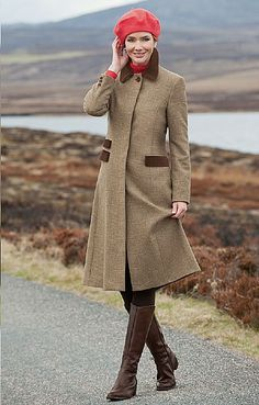 House of Bruar Ladies Velvet Trim Tweed Coat | English classic and ...