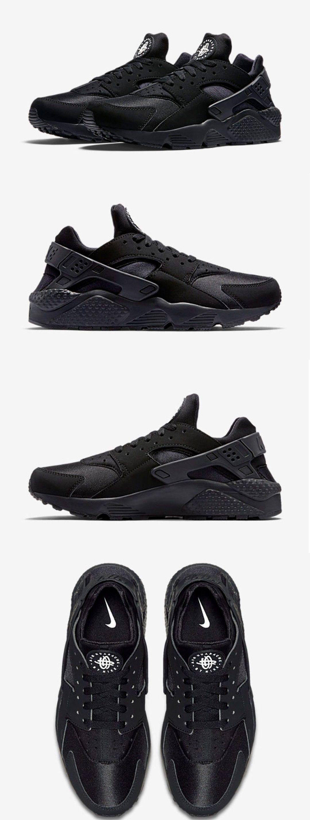Athletic 15709: Nike Air Huarache 318429 003 Black White Men S