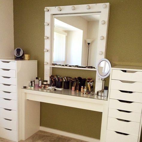 16 Tocadores En Los Que Pasarias Maquillandote Todo El Dia Home Decor Glam Room Vanity Room