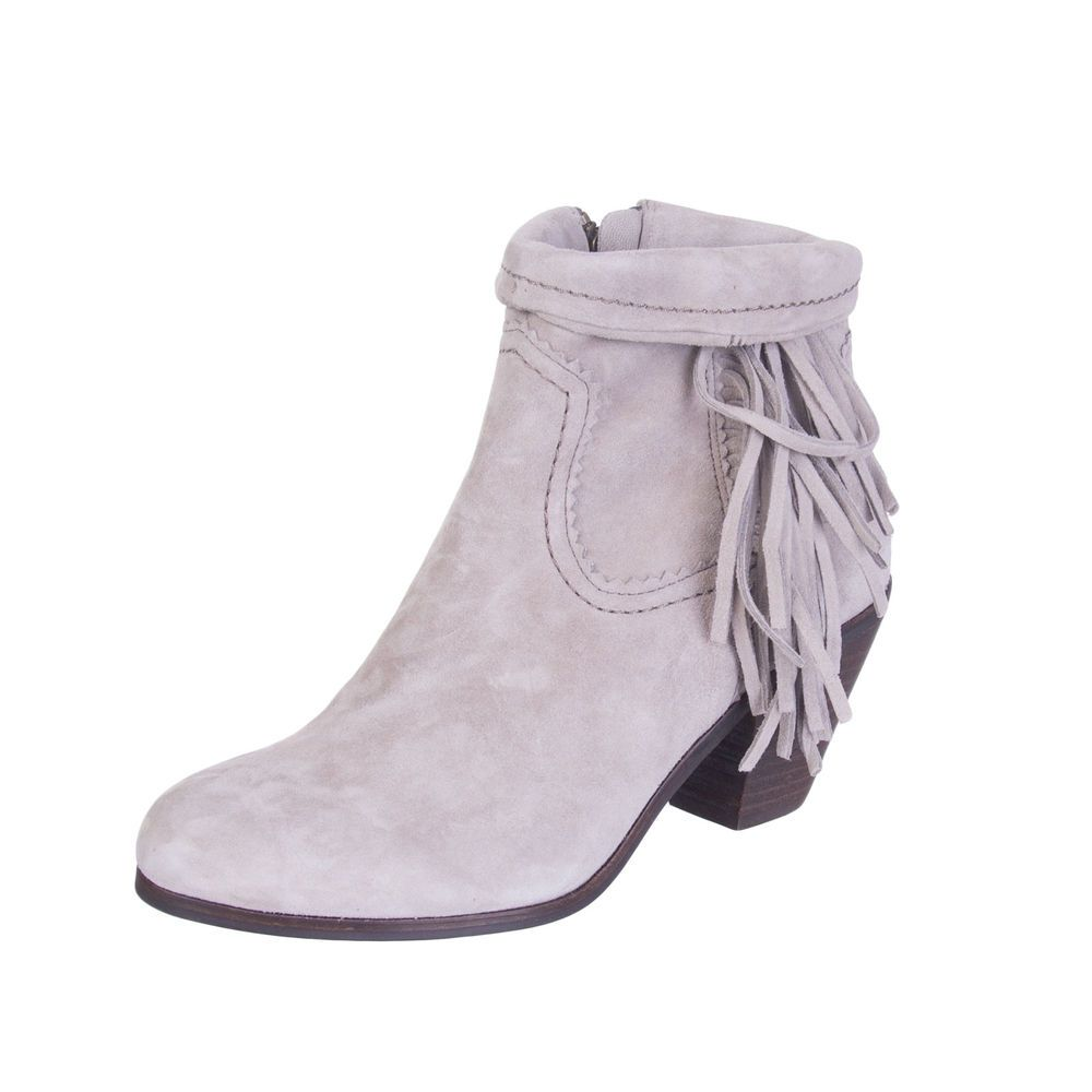 3d3345898 SAM EDELMAN Suede Leather Ankle Boots Size 37 UK 4 Fringe Trim Mid Heel  Zipped  fashion  clothing  shoes  accessories  womensshoes  boots (ebay  link)