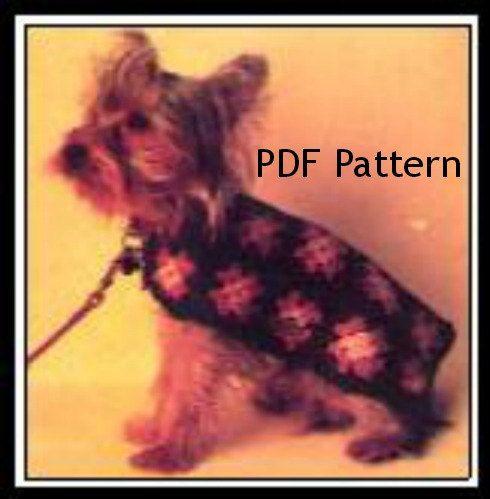 Puppy Dog Sweater, Classic Hippie Granny Square, Small Coat, Vintage ...