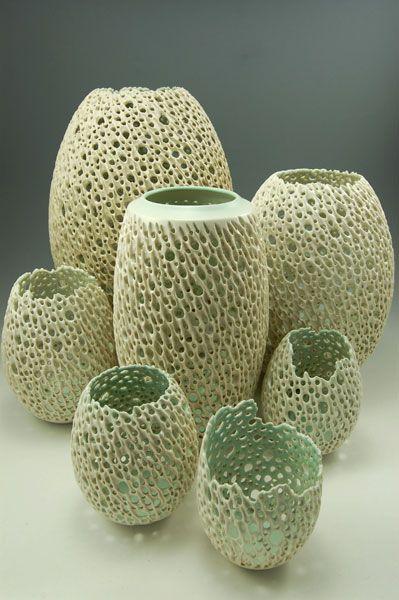 Beautiful Ceramic Filigree Work Pottery Art Pottery