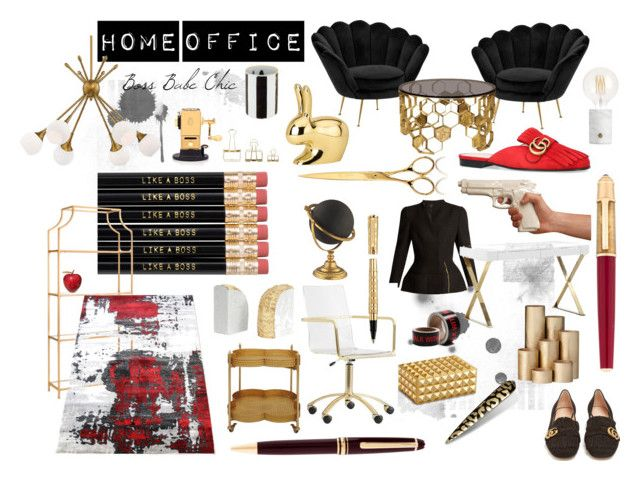 Power Babe Office Chic by ilovepartystyle on Polyvore featuring polyvore, Haider Ackermann, Gucci, PBteen, Creative Co-op, Eichholtz, George Kovacs by Minka, ferm LIVING, Seletti, Cartier, L'Objet, Jayson Home, Ghidini 1961, Mont Blanc, Pangea, Safavieh, A by Amara, Christian Lacroix, El Casco, Raf Simons, HAY, Olympia, fashion, style and clothing