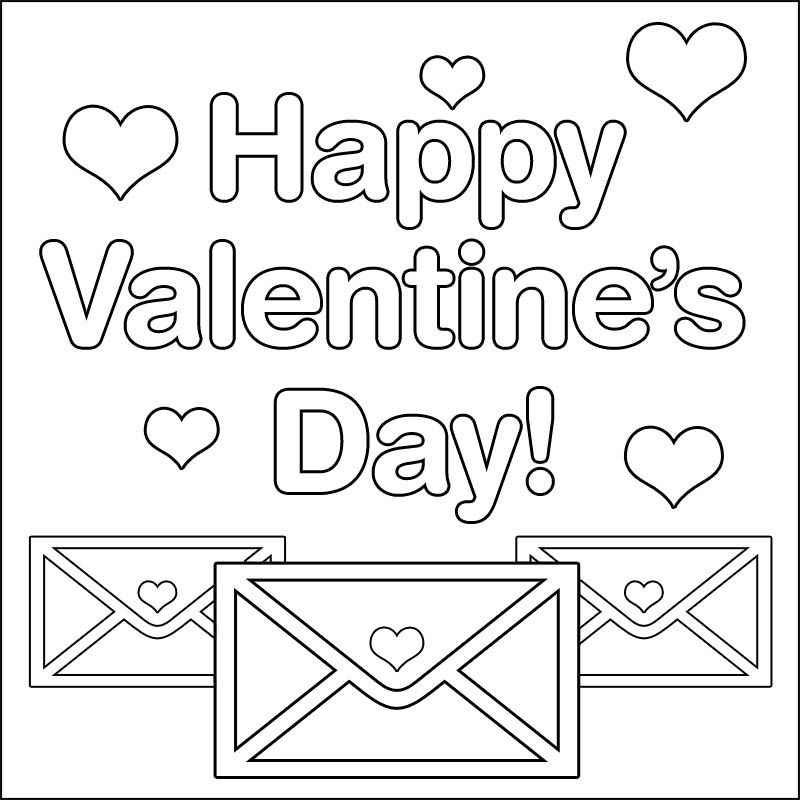 Valentine\'s Day Coloring Pages | Valentines Day | Pinterest | Crafts