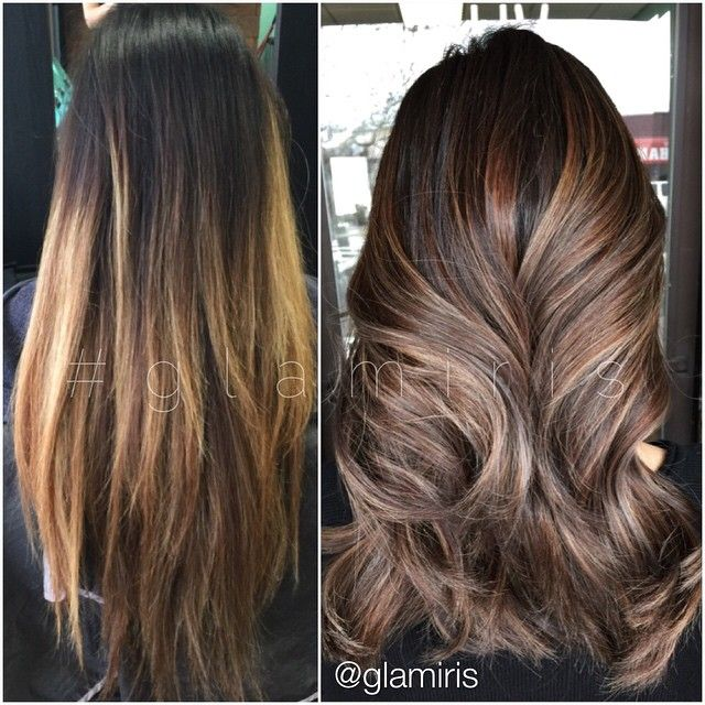 From Old Grown Out Balayage Ombre To Subtle Highlights Fanola Color Line Was Used